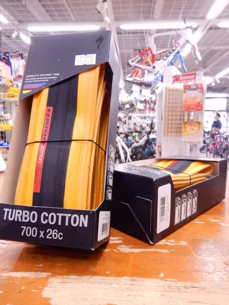 昔っから、しなやかなタイヤはコットンとキマッテマス!Specialized TurboCotton
