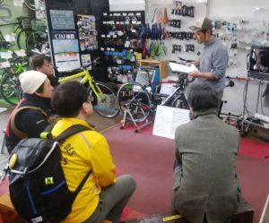 北浦和店で「ロードバイクが気になったら来てみよう」講習会(昼の部)が開催されました。