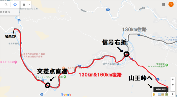 SCR130km&160kmコースの注意点!その③