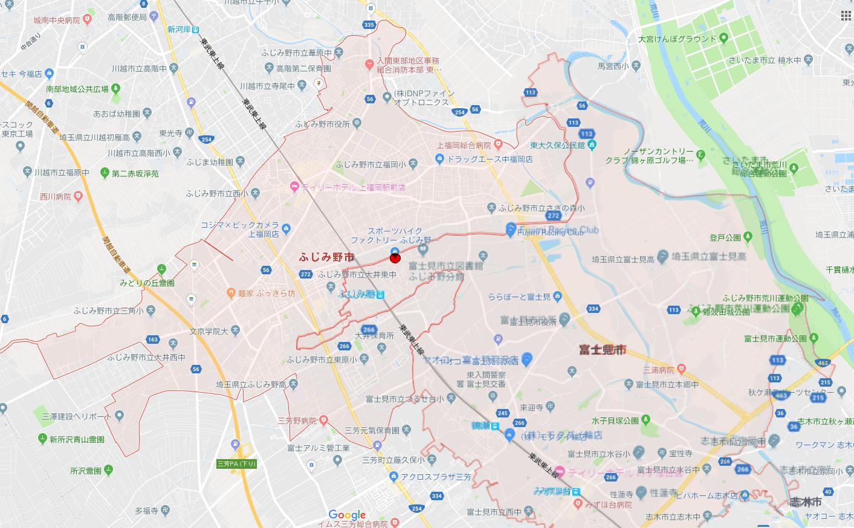 ふじみ野店はここだよ!(地理編)