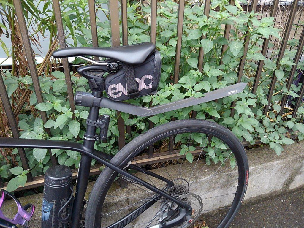 通勤バイクにフルフェンダーをつけました。ただ付けただけじゃないよ。