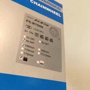 FC-R7000 新型105 160mmのクランクが入荷しました