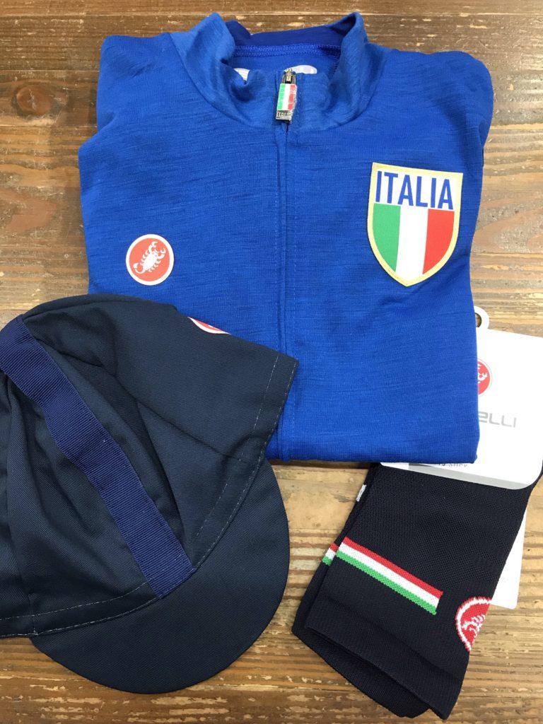 Castelli 20Italiaシリーズの入荷です。